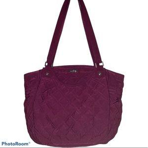Vera Bradley Glenna Shoulder Bag in Burgundy
